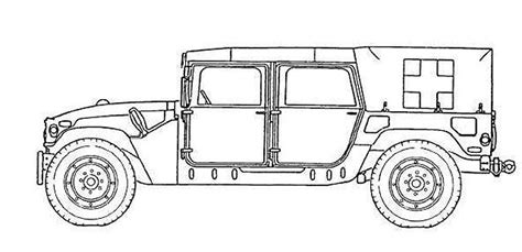 military hummer drawing m1035a2 humvee hmmwv ambulance vehicle technical data