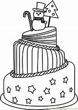 Cake Coloring Celebrations Printable Animals Coloringpages101 Desert sketch template