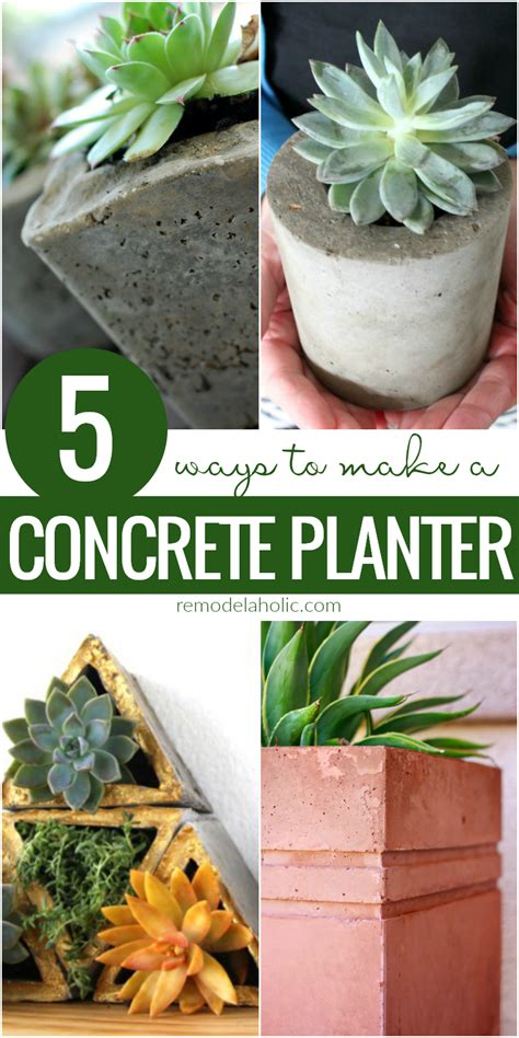 how to make planters remodelaholic how to make an easy diy concrete planter