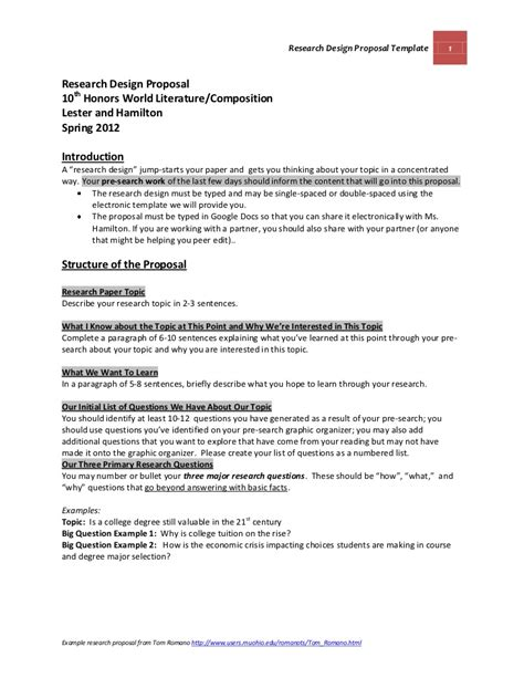 Research Design Sample In A Research Proposal Reindeer Writing Paper
