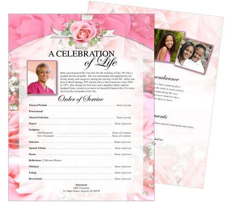 printable funeral memorial flyers samples  page