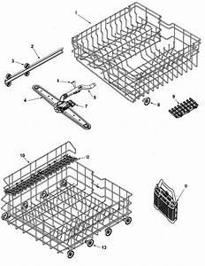 Amana Dishwasher Track  U0026 Rack Assembly Parts
