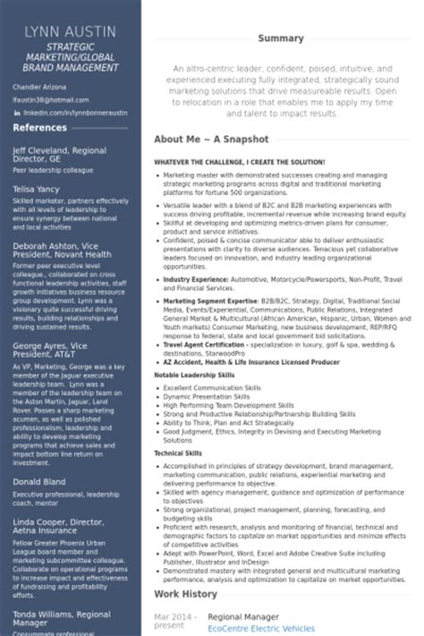 senior program manager resume sles visualcv resume