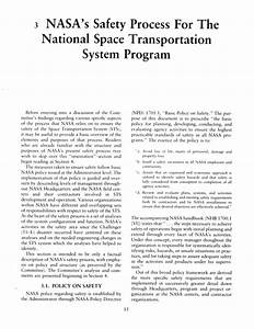 'NASA'S SAFETY PROCESS FOR THE NATIONAL SPACE ...