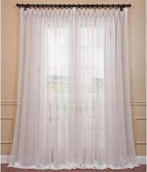 signature white wide layer sheer curtain