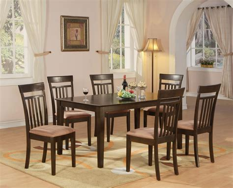 kitchen and dining furniture 7 pc dining room dinette kitchen set table and 6 chairs ebay