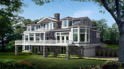 narrow lot house plans lakefront lakefront house plans  homes house plans lakefront