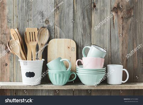 kitchen cooking utensils ceramic storage pot stock photo