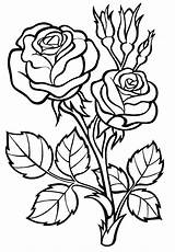 Roses Coloring Pages Print sketch template