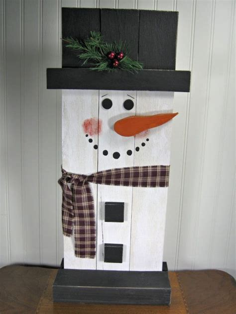 stand up wooden snowman christmas decoration