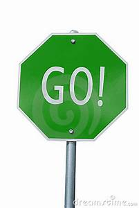 Green GO Sign Royalty Free Stock Image - Image: 3419336