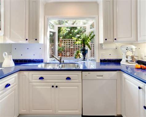 Blue Countertop Kitchen Ideas by White Cabinets Blue Countertops Blue Countertop