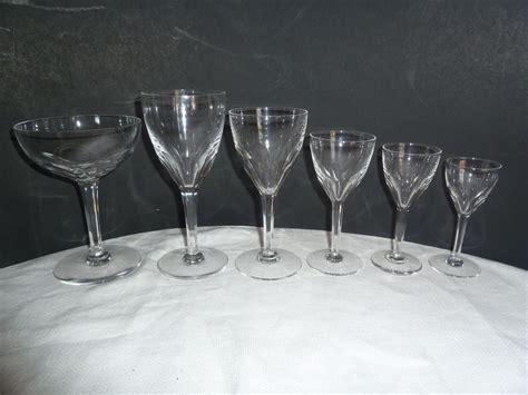 Vintage Fine Crystal Elegant Stemware 31pc Crystal Wine