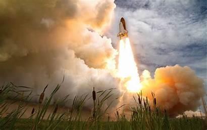 Space Kennedy Shuttle Launch Fondo Pantalla Think