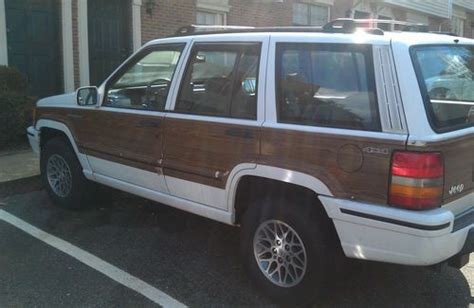 wood panel jeep purchase used no reserve 93 jeep grand wagoneer wood