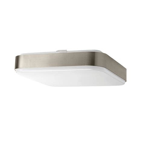 square led ceiling lights hton bay 14 in 1 light brushed nickel led square