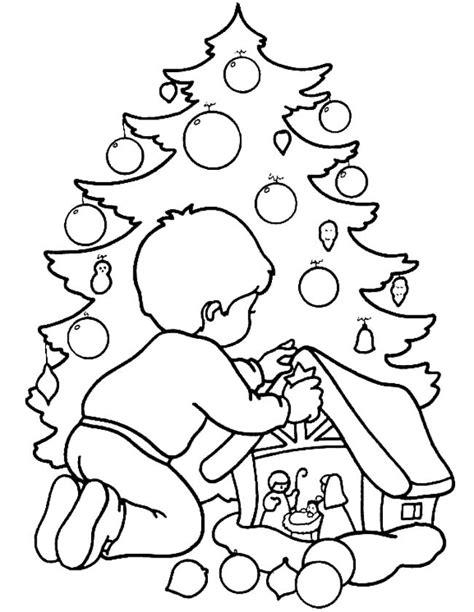 Kerststal Kleurplaat Olwassen by Kleuren Nu Kerststal Met Kerstboom Kleurplaten
