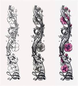 Music Notes Designs | Musical Notes Tattoo Design by ...