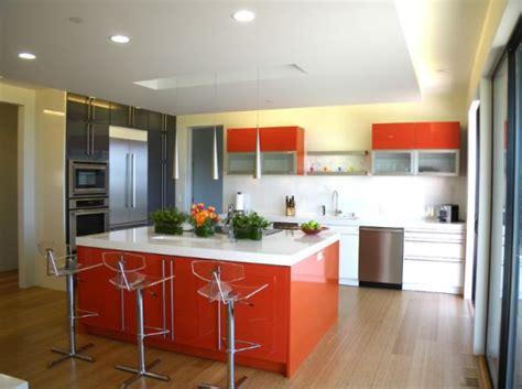 orange kitchen island 15 modern kitchen island designs we 1219