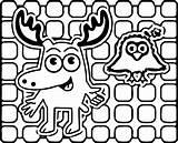 Moose Coloring Linear Noggin Cartoon Wecoloringpage Halloween Printable Cool Getdrawings Getcolorings Boys sketch template