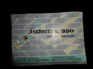 1973 Honda Cb350 Four Owner U0026 39 S Manual In English French