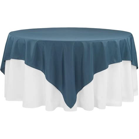 """Economy Polyester Tablecloth 90""""x90"""" Square Navy Blue"""