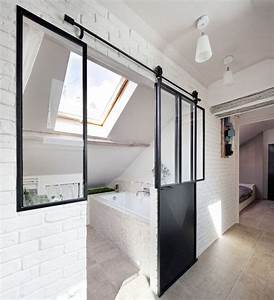 verriere interieure 12 photos pour cloisonner l39espace With porte de douche coulissante avec renovation salle de bain versailles