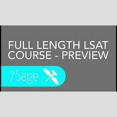 Online Lsat Course Preview  7sage Lsat Youtube