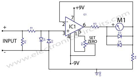 Micro Ampere Meter Electronic Circuits
