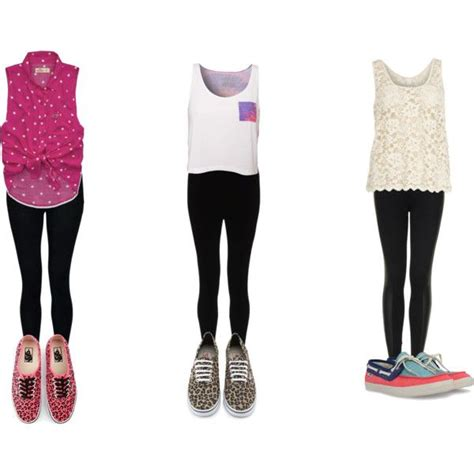 Inspired summer outfits with black leggings and Vans - Polyvore   outfits with Vans   Pinterest ...