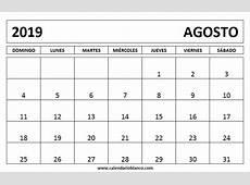 Calendario agosto 2019 para imprimir Download 2019