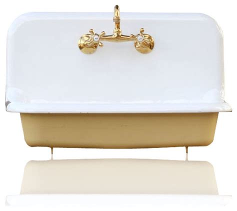 who installs kitchen sinks re 30 quot high back farm sink cast iron porcelain kitchen 1495