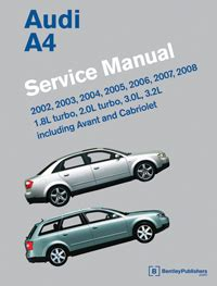 free service manuals online 2007 audi a4 security system 2002 2008 audi a4 factory service manual
