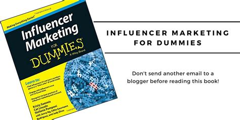 marketing for dummies book review influencer marketing for dummies