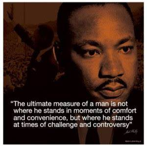 Mlk Poster Mlk Quotes Measure Of A Man Quotesgram