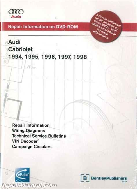 manual repair autos 1996 audi cabriolet spare parts catalogs audi cabriolet 1994 1998 repair manual on dvd rom