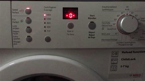 Ошибка F21 Bosch Maxx 7. Читать описание.