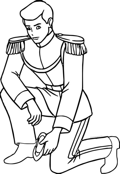Prince Charming Who Is This Shoe Coloring Page See the