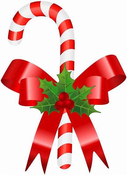 Candy Cane Transparent Clip Ornament Canes Ribbon
