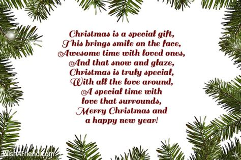 Christmas Poems For Family Happy Holidays