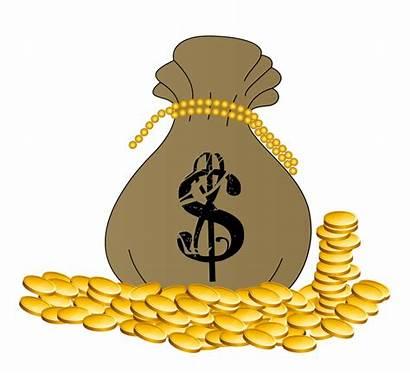 Money Coins Clipart Clip Bag Clipground