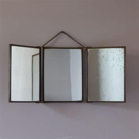 armoires de cuisine ancien miroir de barbier triptyque lignedebrocante brocante en ligne chine pour vous meubles
