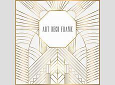 Art Deco Monogram Frame, Deco, Invitation, Wedding PNG and