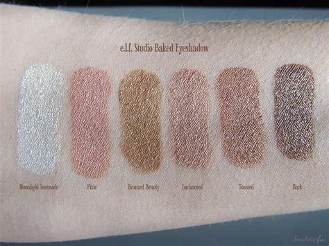 e l f studio prism eyeshadow e l f studio baked eyeshadow review makeupfu