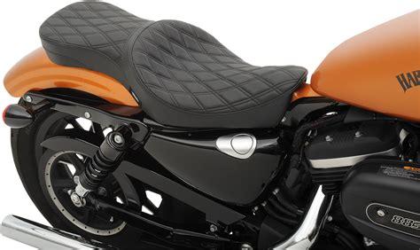 Drag Specialties Black Diamond 2 Up Motorcycle Seat 10-16