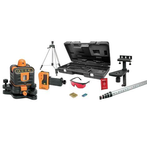 johnson laser level johnson manual leveling rotary laser level kit 40 6512 the home depot