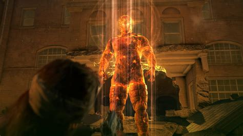 Mgsv The Phantom Pain Wallpaper Metal Gear Solid V Images Show Big Boss Face To Face With The Man On Fire Hallucination