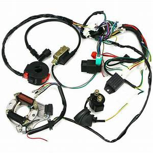 Electric Wiring Harness Wire Loom Cdi Stator Kit For 50cc