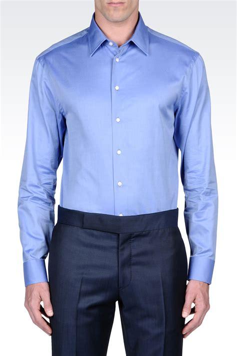 armani long sleeve shirt  blue  men pastel blue lyst