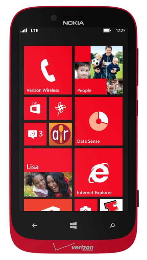 nokia lumia  red windows phone  lte mp camera